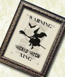 Wiked Witch Framed Art